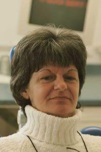 Le visage de Marie-France au début du traitement.