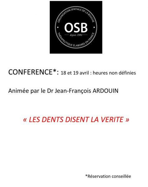Conférence animée par le Dr Jean-François Ardouin.